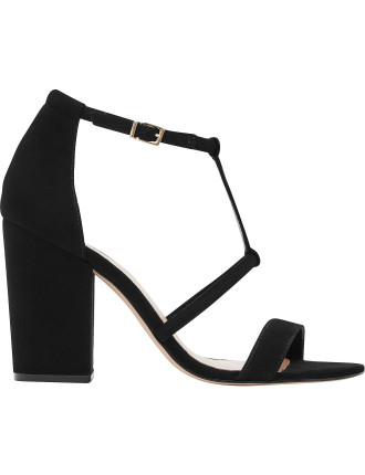 Moretz Block Heel Suede Sandals