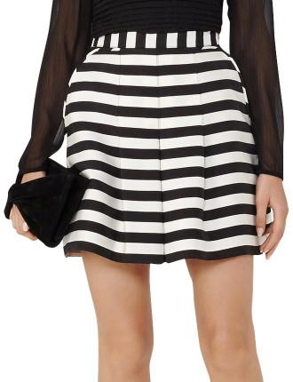 June Stripe-Print Shorts