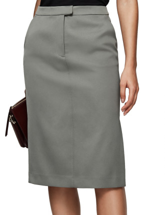 ERA-SATIN PENCIL SKIRT