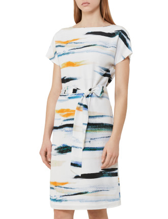 Alba-Printed Shift Dress