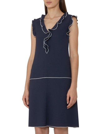 Vivienne Shift Dress with Frill Detail
