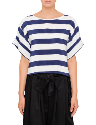Striped Cdc Cropped T-Shirt