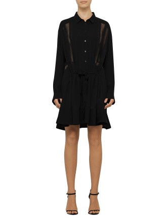 Francy Shirt Dress With Broderie Detail