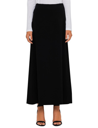 Viscose Stretch Long Skirt