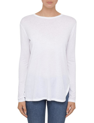 Cotton Cashmere Jersey Longsleeve  T-Shirt