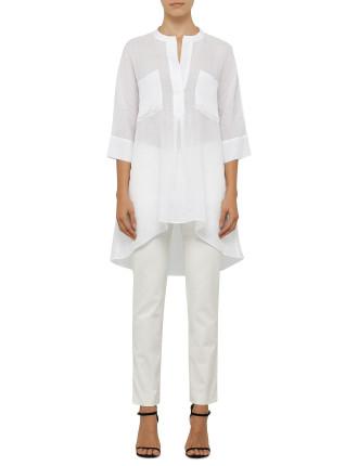 Heather Oversize Linen Shirt