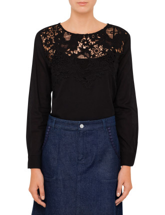 Lace Top With Voile