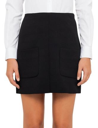 Pocket Front Mini Skirt