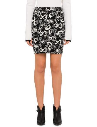 Liberty Print Knit Skirt