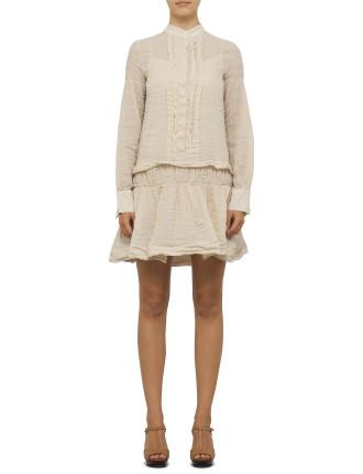 Cotton Voile Shirt Dress