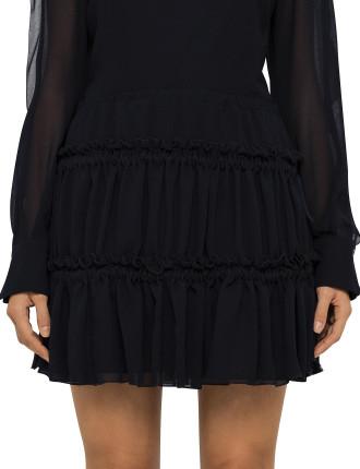 Georgette Ruffle Skirt
