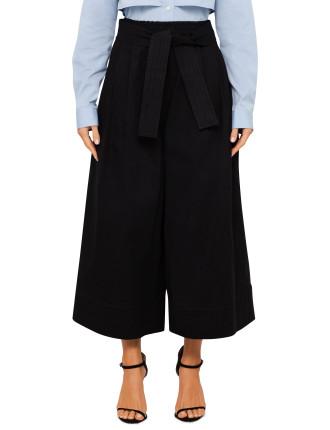 Denim Karate Pant With Belt