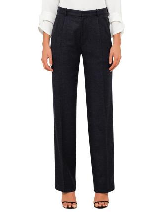 Garland Wide Leg Pleat Front Pant
