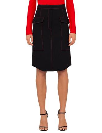 Gertrude Sporty Skirt W Top Stitch
