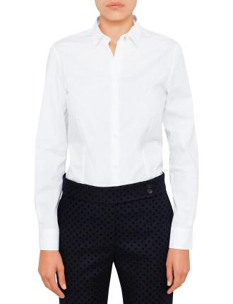 Womens Classic Shirt W Polka Dot Cuff