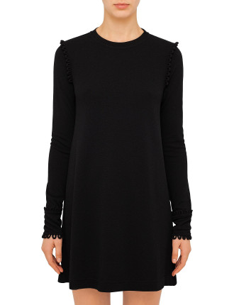 Embellished Fluid Jersey Dress