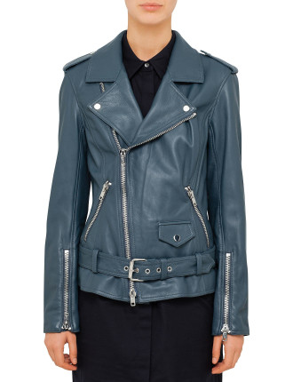 Contoured Leather Jacket