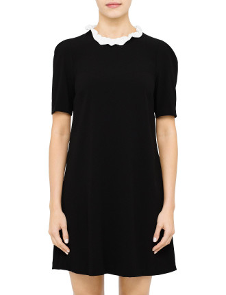 Reglisse Dress With Ruffle Collar