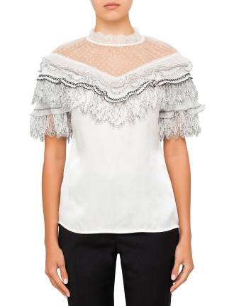 lace trimmed top