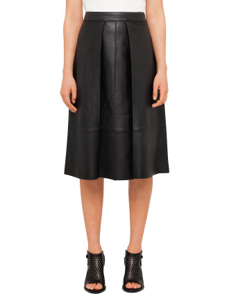 Rowe Leather Skirt