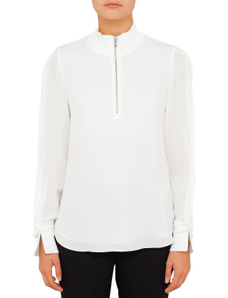 Blouse With Front Zip