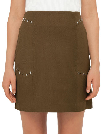 Skirt With Staple Detail