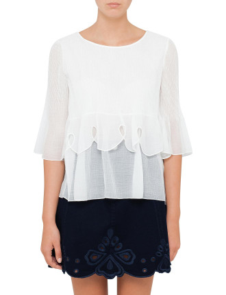 Double Layered Pleat Top
