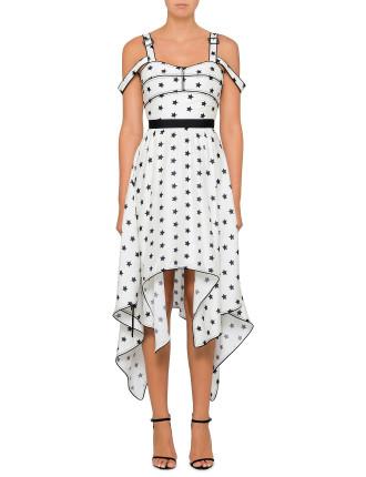Printed Star Handkerchief Dress