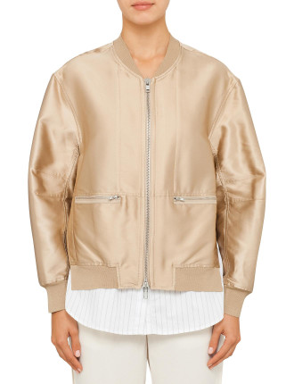 Bomber With Trompe L'Oeil Underlay