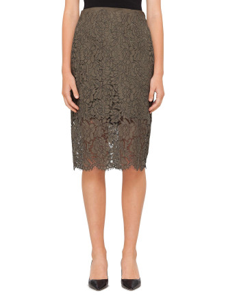 Dvf Glimmer Lace Skirt
