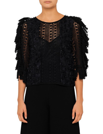 Crochet And Lace Mix Top