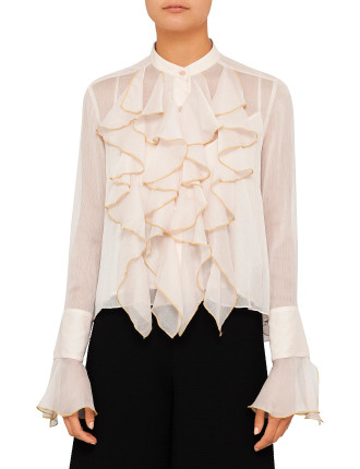 Georgette And Ruffles Shirt