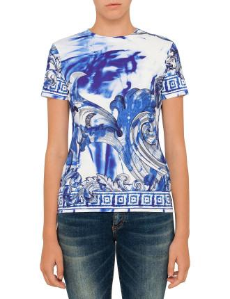 Silk Jersey Print T-Shirt