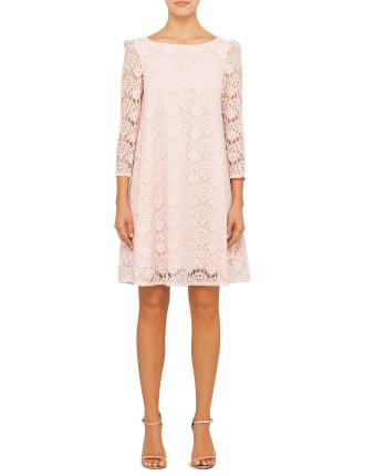 Rififi Rose Lace Long Sleeve Dress