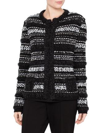 Boucle Lurex Thread Knit Jacket
