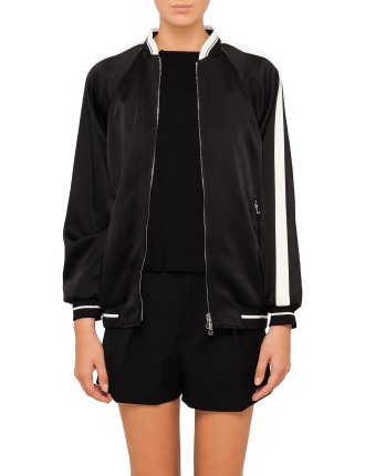 Silk Bomber With Embroidered Back