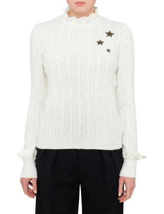 Cable Knit Knit With Stars