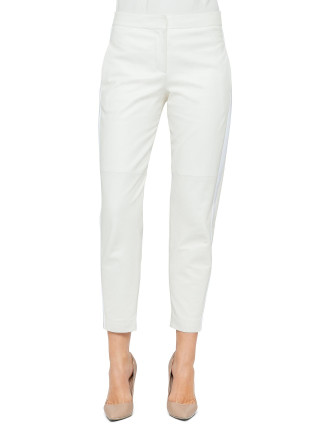 Wide Soft Nappa Tapered Ankle Pant