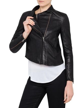 Cluster Leather Jacket