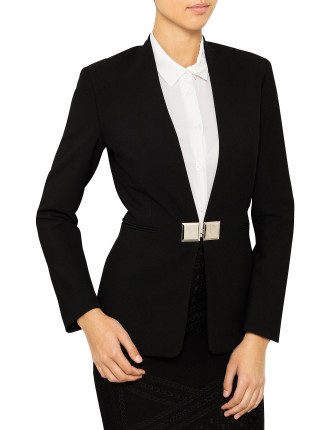 Long Jacket With Gold Closures