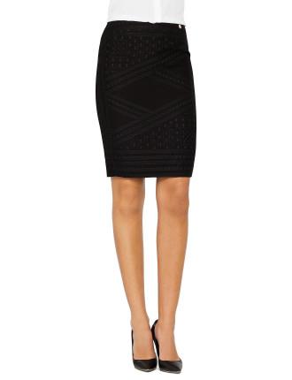 Chain Jacquard Skirt