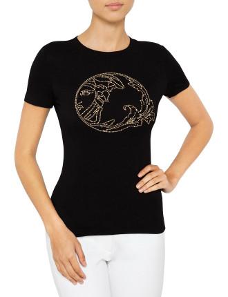 Medusa Beaded T-Shirt