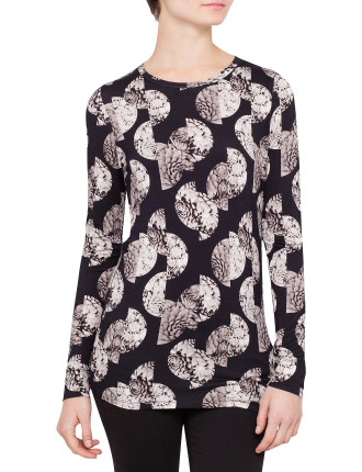 Photographic Floral Spot T-Shirt