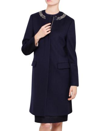 Jewel Collar  Coat