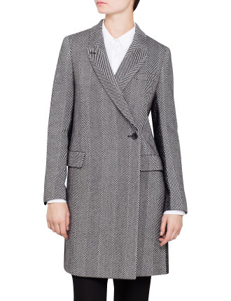 Herringbone Contrast Coat