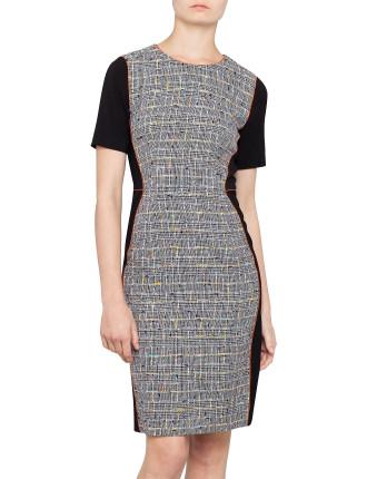 Tweed Front Dress