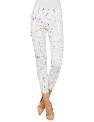 Painted Floral Jean