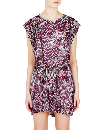Cantela Print Dress