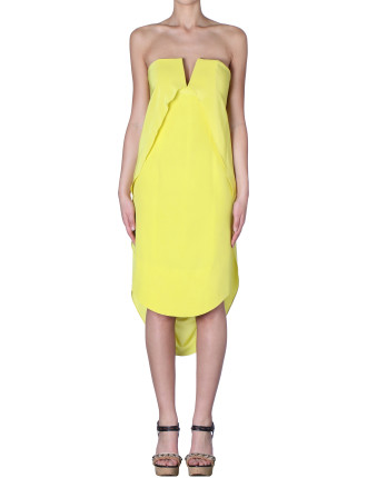 Citrus Silk Crepe De Chine La Jonquille Dress