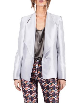 Cement Cotton Silk Facade Jacket
